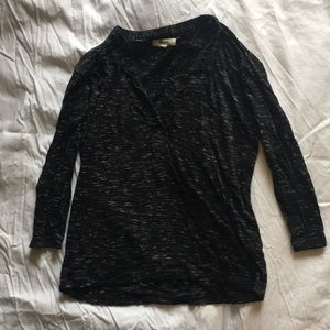 Madewell black marled henley, size XS, barely worn